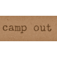 Camp Out : Lakeside Camp Out Snippet Word Art