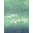 Camp Out Lakeside Fishing Journal Card 3x4