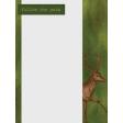 Camp Out Woods Deer Journal Card 3x4