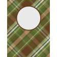 Camp Out Woods Plaid Journal Card 3x4