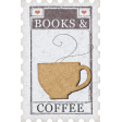 Going To The Bookstore Postage Stamp Coffee