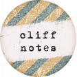 Going To The Bookstore Round Sticker Cliff Notes