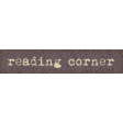 Going To The Bookstore Word Art Reading Corner