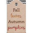 Sweet Autumn - Autumn Tag