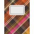Sweet Autumn Plaid Journal Card 3x4