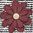 Chicory Lane Element Flower Burlap Burgundy