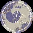 Chicory Lane Element Round Sticker Love Today