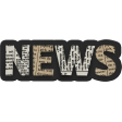Black, White, and Read All Over - NEWS Word Art