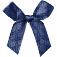 Black, White, and Read All Over - Blue Damask Bow
