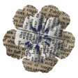 Black, White, and Read All Over - Newsprint Flower