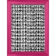 My Life Palette - 3x4 Basic Wood Frame (Fuchsia)