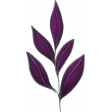 My Life Palette - Leafy Branch Doodle (Plum and Silver)