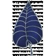 My Life Palette - Leaf Doodle (Navy & Silver)