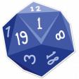 My Life Palette - Dice Sticker (Blue 1)