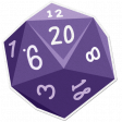 My Life Palette - Dice Sticker (Purple 20)