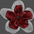 My Life Palette - Fabric Flower (Burgundy and White)