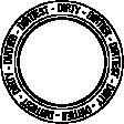 Backyard Text Circle Dirty Word Art