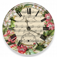 Music and Roses Clock
