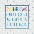 Raindrops & Rainbows - 3x3 Filler Card 3