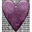 Project Life - March Glitter Heart Purple