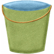 Beaches Felt Sand Bucket