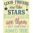 My Tribe Word Art - Good Friends are like Stars
