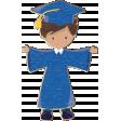 Grad Night Distressed Chipboard Boy 1