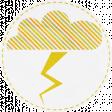 Umbrella Weather Cloud Sticker