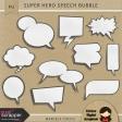 Super Hero Speech Bubble