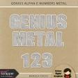 Genius Alpha & Numbers Metal