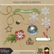 Holly Night Elements