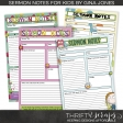 Sermon Notes For Kids Print Kit