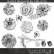 Fabric Flower Template Kit