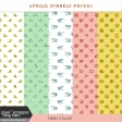 Spring Sparkle Glitter Papers