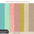 Spring Sparkle Grunge and Sandpaper
