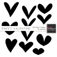 Sweet Valentine Heart Shapes Templates Kit