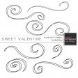 Sweet Valentine Doodle Swirl Templates Kit