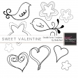 Sweet Valentine Doodle Extras Templates Kit