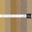 Kraft Papers-Set 01 Papers Kit