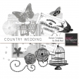 Country Wedding Element Templates Kit