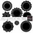 Doily Shapes Set #02 Templates Kit