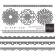 Oh Baby, Baby Doily And Border Templates Kit