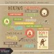 Outdoor Adventures Word Art Kit