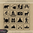 Outdoor Adventures Recreational Icon Brushes/PNG's Kit