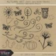 Autumn Art October 2014 Blog Train Doodle Brushes/PNG's Kit