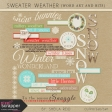 Sweater Weather Word Art And Bits Kit