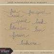 Jane Handwritten Metal Wordart Kit