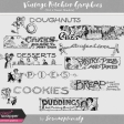 Vintage Kitchen Graphics Vol. 2 - Sweet Headers