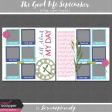 "The Good Life: September 2-Page ""Day in the Life"" Layout Template Set"