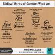 Biblical Words of Comfort Word Art Kit